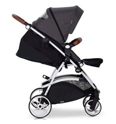 Прогулянкова коляска для двійні EasyGo Duo Comfort Orange