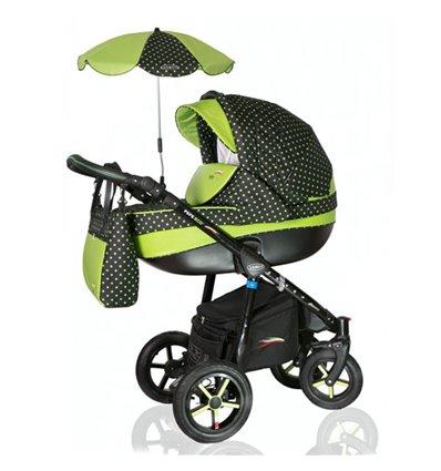 Дитяча коляска 3 в 1 Verdi Pepe Eco Len 37 Linen Graphit