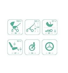 Люлька-шезлонг-крісло для годування Chicco Baby Hug 4 в 1 Aquarelle