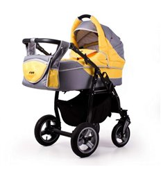 Дитяча універсальна коляска 2 в 1 EasyGo Optimo Anthracite