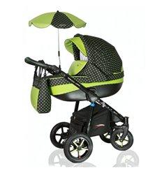 Дитяча коляска 3 в 1 Verdi Pepe Eco 11 Pink Mix